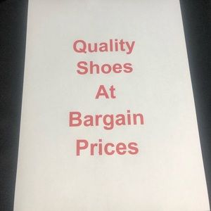 Quality Shoes at Bargain Prices